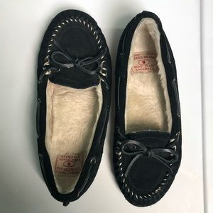 Lucky Brand faux fur moccasins